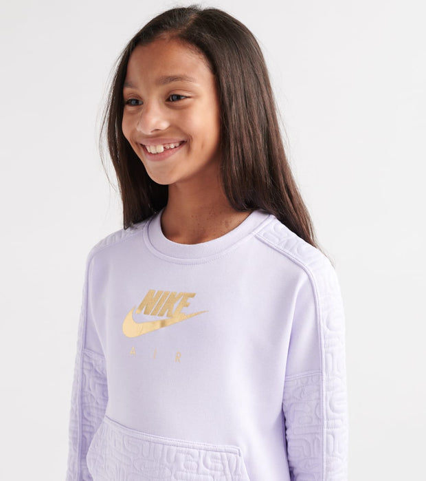 Nike  Girls NSW Air Fleece Sweatshirt  Purple - BV2703-539 | Jimmy Jazz