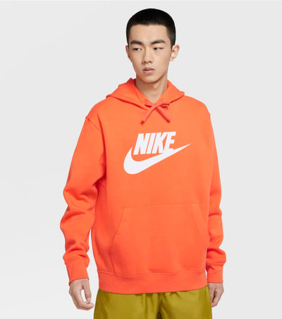 Nike  NSW Club Fleece Pullover Hoodie  Orange - BV2973-837 | Jimmy Jazz