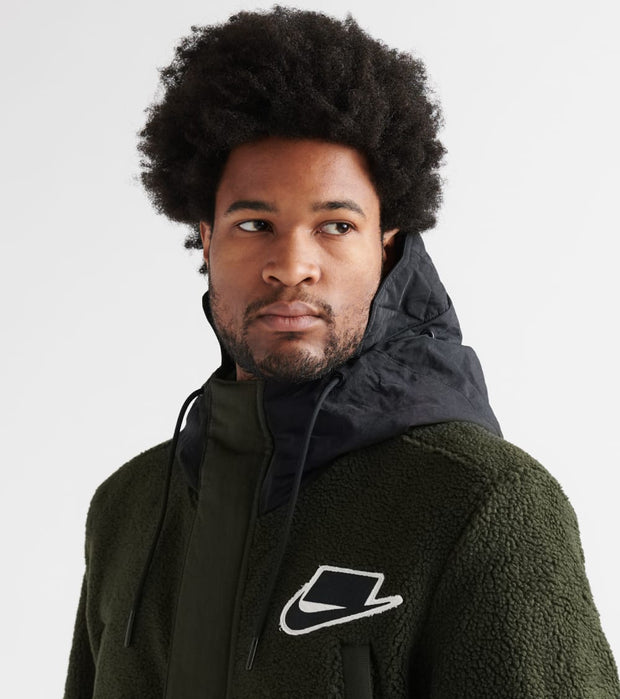 Nike  Nsw Sherpa Fill Parka Mix Jacket  Black - BV4797-010 | Jimmy Jazz