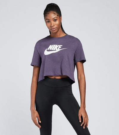 Nike  NSW Essential Icon Flash Cropped Tee  Purple - BV6175-573 | Jimmy Jazz