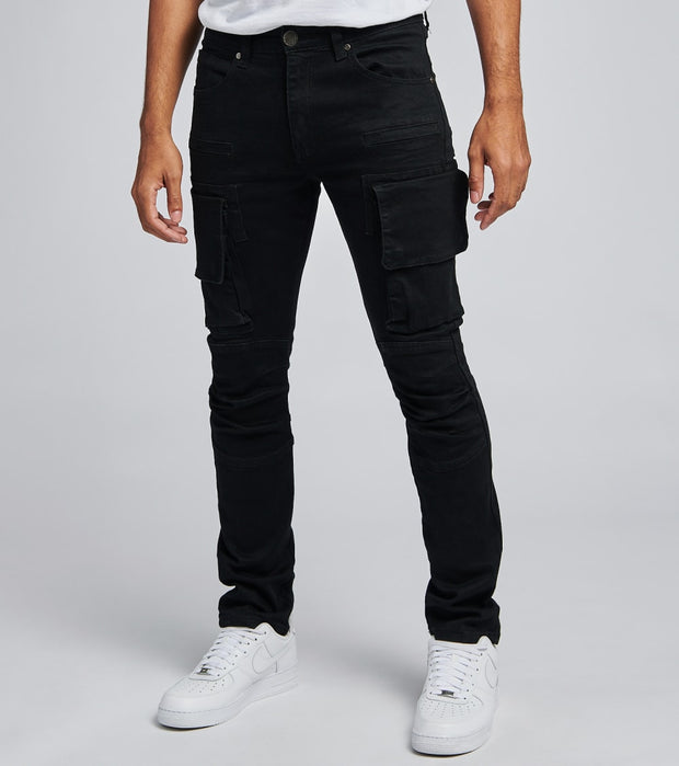 Caliber  Shell Back Cargo Jeans L32  Black - C12475-JBK | Jimmy Jazz