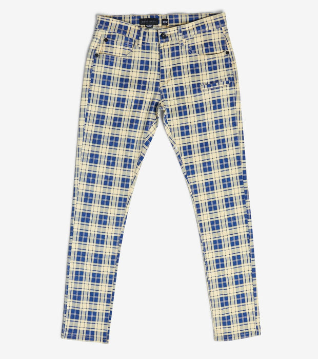 Decibel  Plaid Pants  Blue - C12527-BLU | Jimmy Jazz