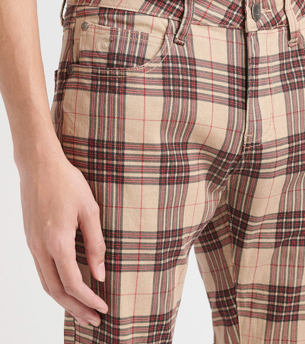 Caliber  On Deck Plaid Pants  Brown - C12527-KHK | Jimmy Jazz
