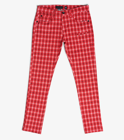 Decibel  Plaid Pants  Red - C12527-RED | Jimmy Jazz