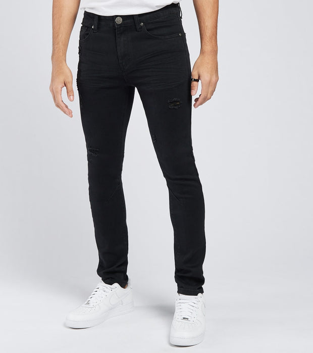 Caliber  Red Team 5 Pocket Jeans L32  Black - C12531-JBK | Jimmy Jazz