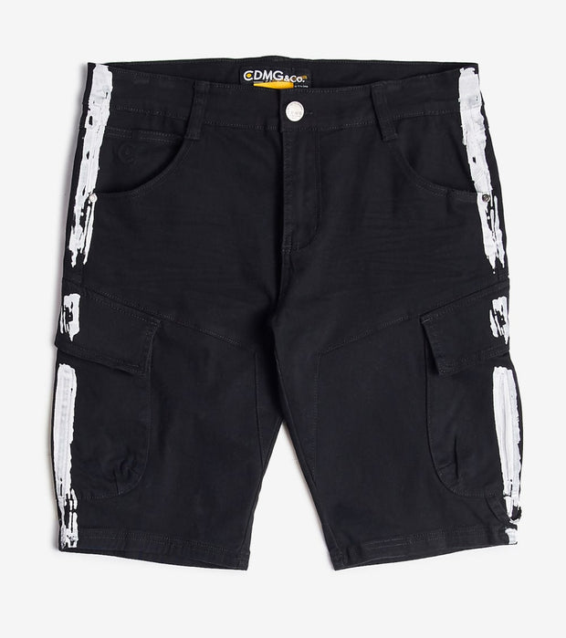 Caliber  Cargo Splatter Shorts  Black - C12547S-BKW | Jimmy Jazz