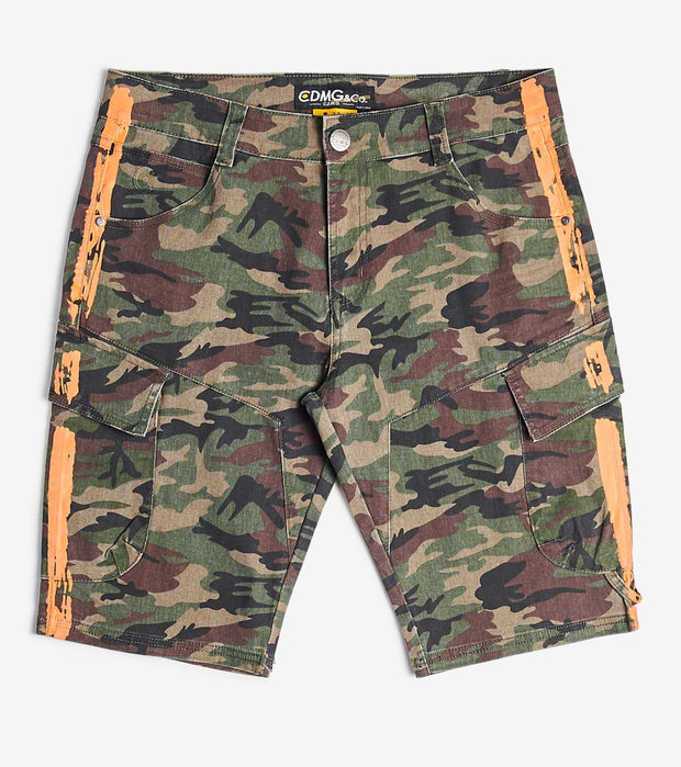Caliber  Cargo Splatter Shorts  Camo - C12547S-CMO | Jimmy Jazz