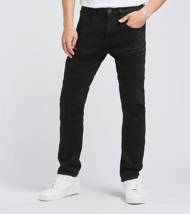 Caliber  Moto Detail Jeans L32  Black - C12658 | Jimmy Jazz