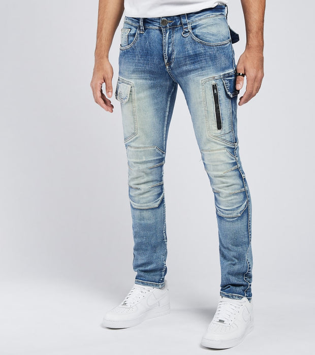 Caliber  Corridor Jeans L32  Blue - C12674-MTB | Jimmy Jazz