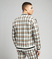 Decibel  Plaid Bomber Jacket With Black Tape  Black - C12786-BLK | Jimmy Jazz