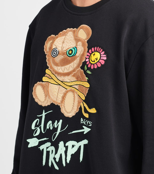 BKYS  Stay Trapt Long Sleeve Crew  Black - C205-BLK | Jimmy Jazz