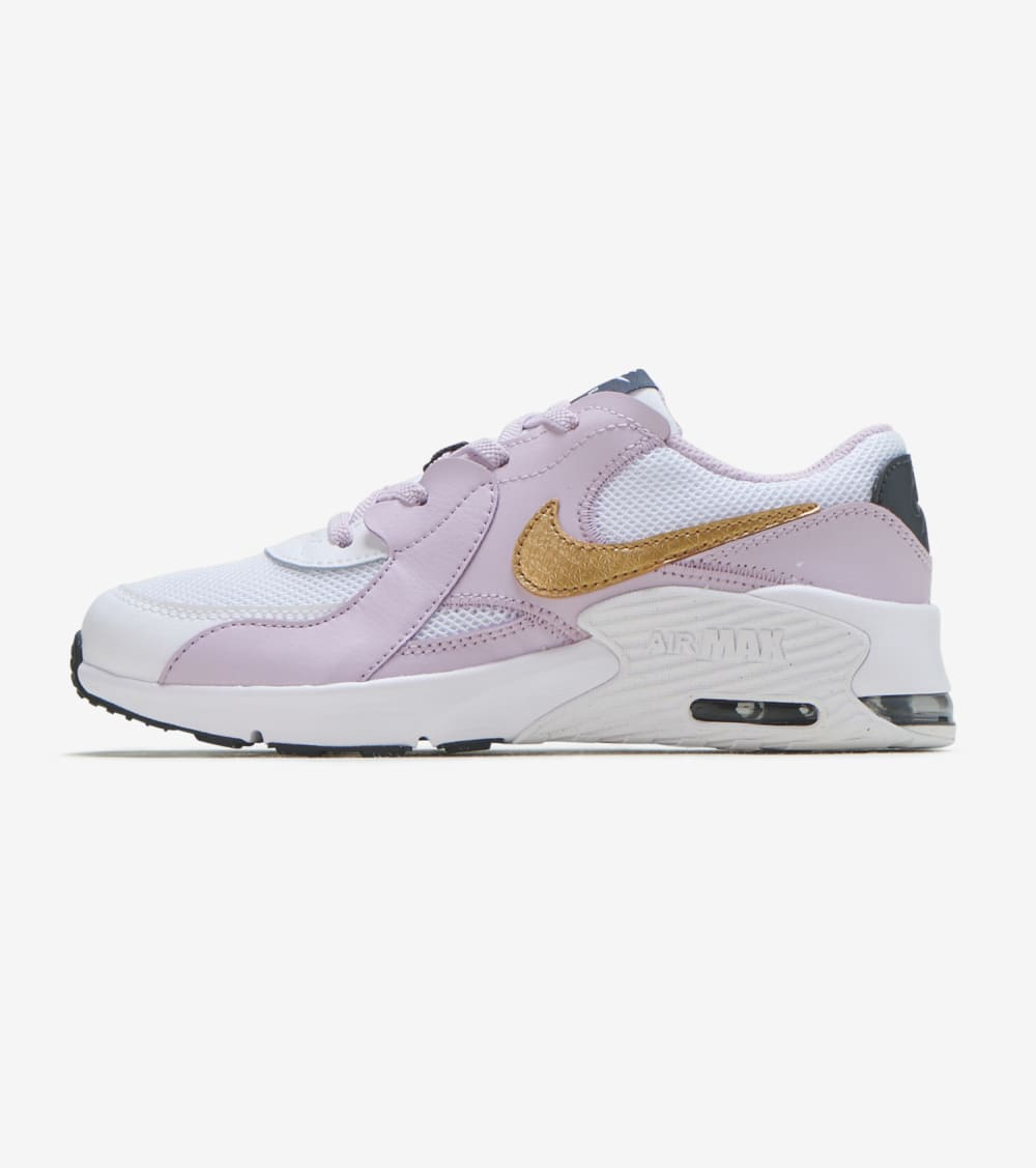 Nike Air Max Excee Shoes in White/Gold