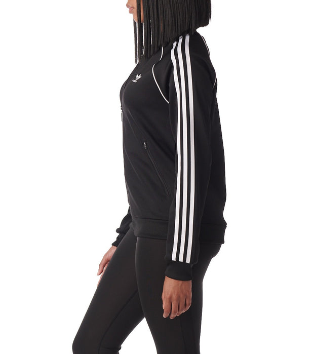 Adidas  3 Stripe Track Jacket  Black - CE2392-001 | Jimmy Jazz