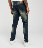 Create 2MRW  RNR Jeans With Backing N Paint Splatter  Blue - CF0613-VN | Jimmy Jazz