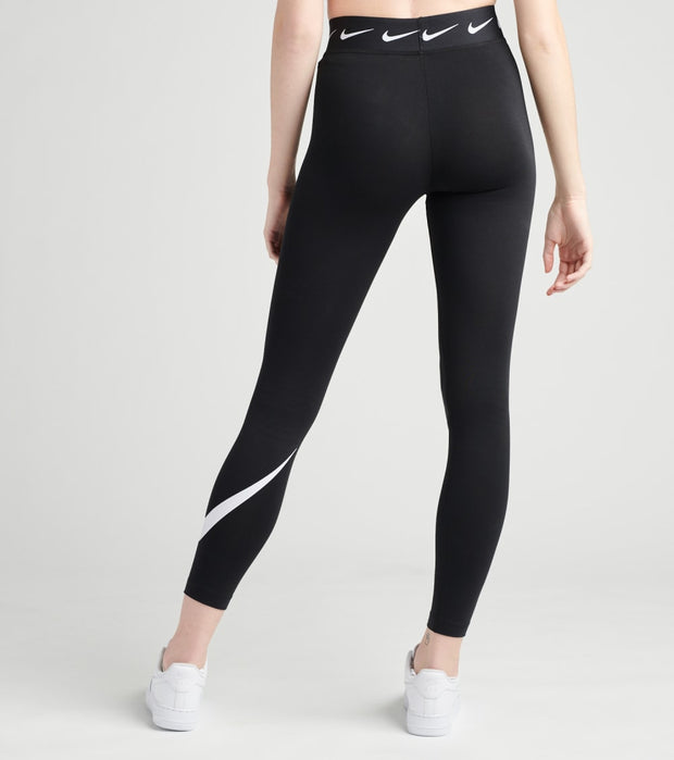 Nike  NSW Club High Waisted Swoosh Leggings  Black - CJ1984-010 | Jimmy Jazz