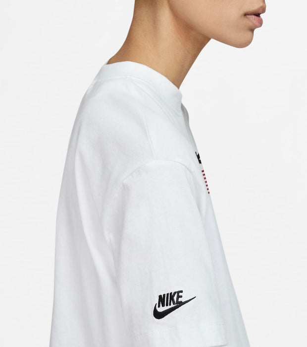 Nike  Women's Nike Flag Crop Top  White - CJ3223-100 | Jimmy Jazz