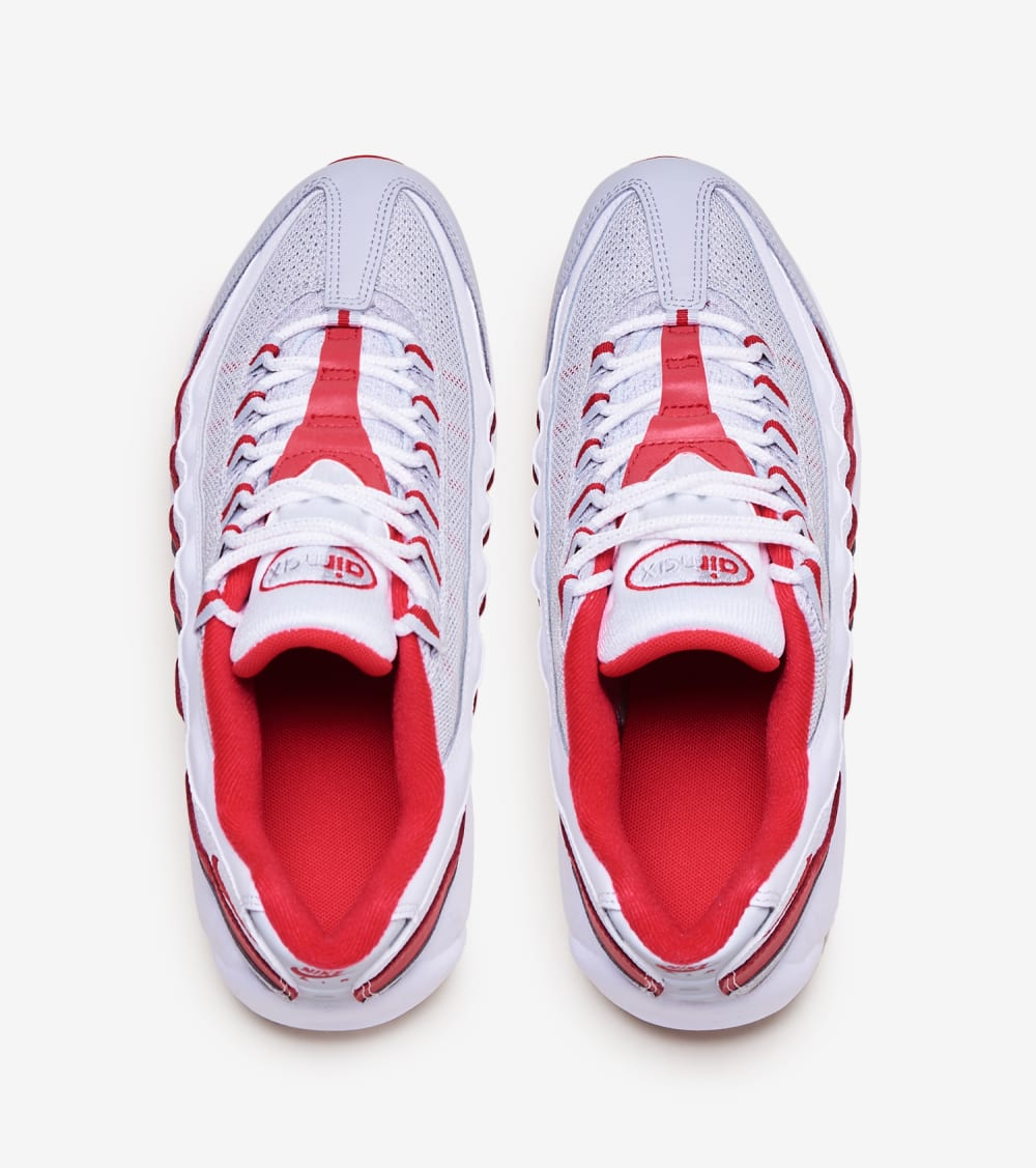 red and grey nikes