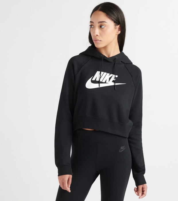 Nike  NSW Essential Crop Hoodie HBR  Black - CJ6327-010 | Jimmy Jazz