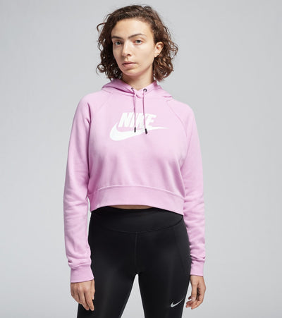 Nike  NSW Essential Cropped Hoodie  Pink - CJ6327-680 | Jimmy Jazz