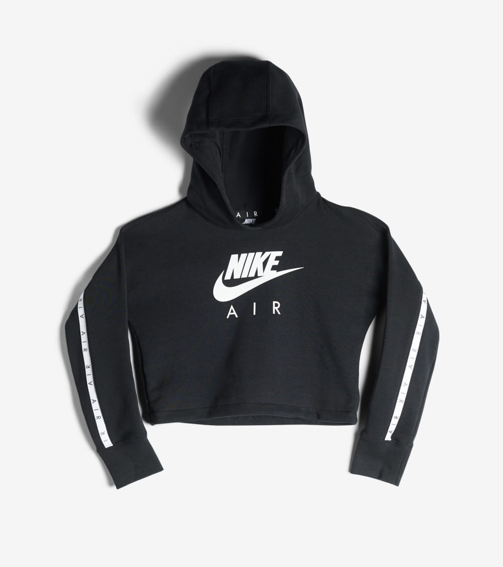 Nike  Girls 7-16 NSW Nike Air Crop Hoodie  Black - CJ7413-010 | Jimmy Jazz