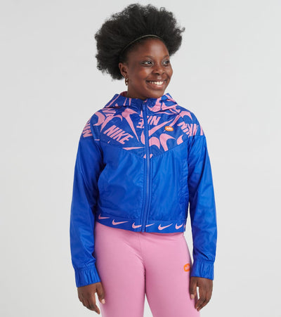 Nike  Girls 7-16 NSW Windrunner Jacket  Blue - CJ7426-433 | Jimmy Jazz