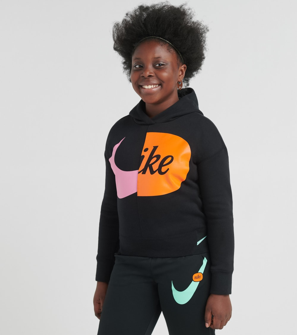 Nike  Girls 7-16 NSW Loose Pullover Hoodie  Black - CJ7428-010 | Jimmy Jazz