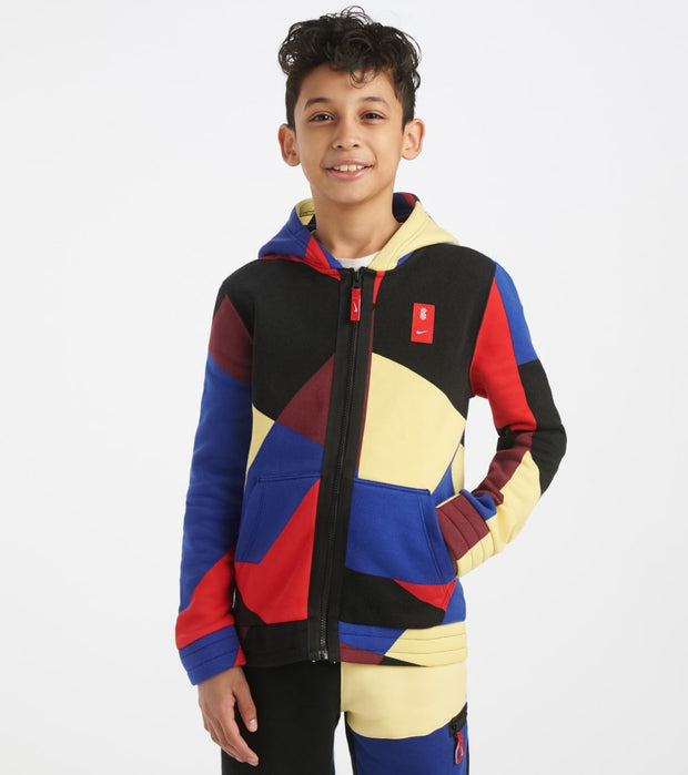 Nike  Boys Kyrie Fleece Full Zip Hoodie  Multi - CJ8061-657 | Jimmy Jazz