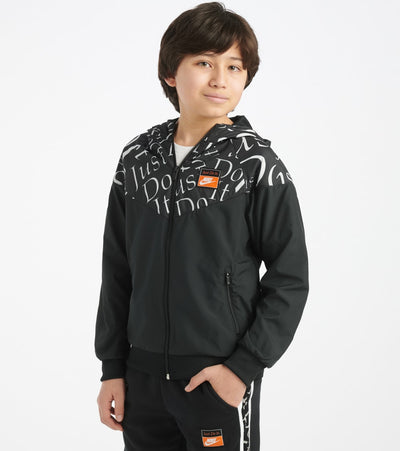 Nike  Boys NSW Windrunner Jacket  Black - CK0958-010 | Jimmy Jazz