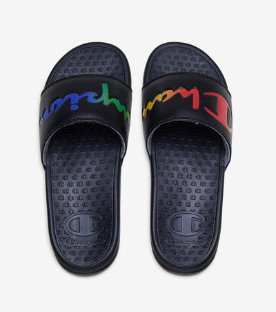 Champion  Super Slide Split Script  Black - CM100383W | Jimmy Jazz