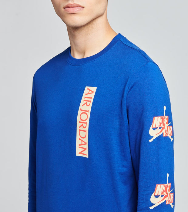 Jordan  Jumpman Classics Long Sleeve Tee  Blue - CN3504-455 | Jimmy Jazz