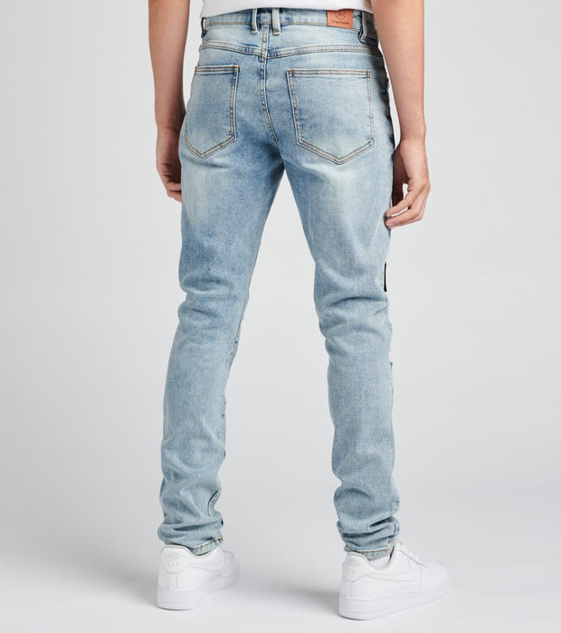 Crysp  Nowell Painted Denim Jeans  Blue - CRYH19-141 | Jimmy Jazz