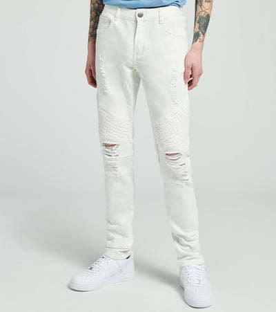Crysp  Verneer Moto Jeans L32  White - CRYSP05RL32-WHT | Jimmy Jazz