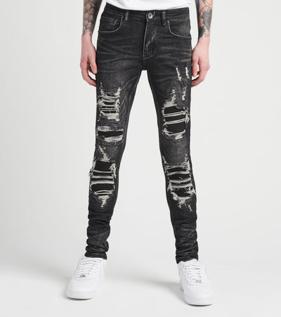 Crysp  Pollock Distressed Jeans L32  Black - CRYSP06RL32-BLK | Jimmy Jazz
