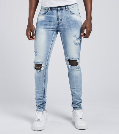 Crysp  Rockwell Distressed Jeans L32  Blue - CRYSP22RL32-LBS | Jimmy Jazz