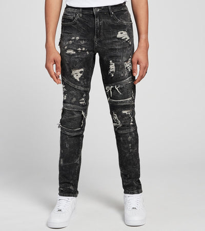 Crysp  Kahlo Moto Jeans L32  Black - CRYSP28RL32-WBK | Jimmy Jazz
