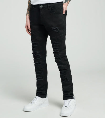 Crysp  Magritte Ripped Jeans L34  Black - CRYSP33LL34-BLK | Jimmy Jazz