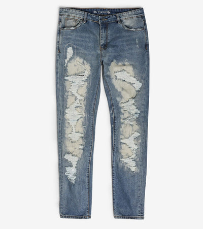 Crysp  Haring Distressed Jeans L34  Blue - CRYSP34LL34-VBL | Jimmy Jazz