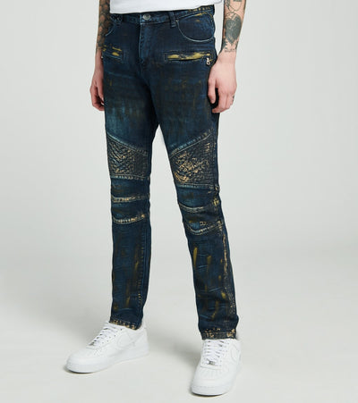 Crysp  Gaugiun Biker Jeans L32  Blue - CRYSP35RL32-DIN | Jimmy Jazz