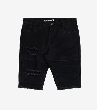 Crysp  Turner Denim Shorts   Black - CRYSP45RL32-JBK | Jimmy Jazz
