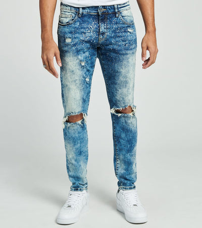 Crysp  Beth Acid Wash Jeans L32  Blue - CRYSP63RL32-ABL | Jimmy Jazz