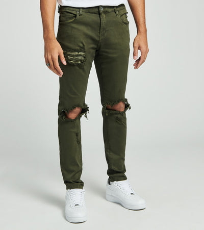 Crysp  Dustin Ripped Jeans L32  Green - CRYSP68RL32-OLV | Jimmy Jazz