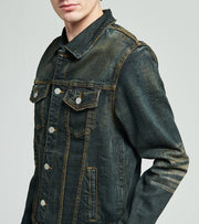 Crysp  Theo Denim Jacket  Blue - CRYSP73-DIN | Jimmy Jazz