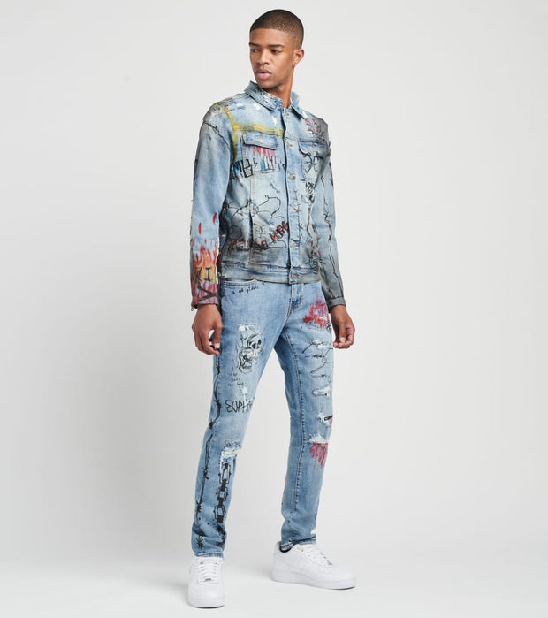 Crysp  Ozzy Jacket  Blue - CRYSP83-BLU | Jimmy Jazz