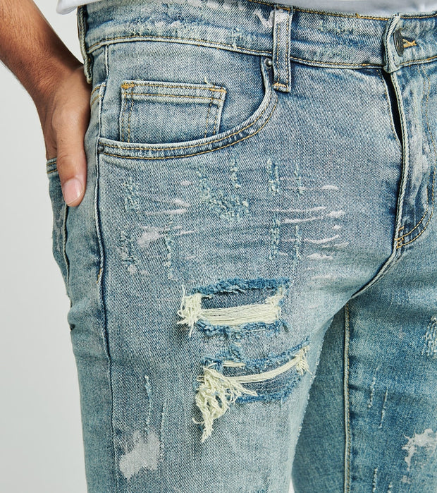 Crysp  Noah Distressed Jeans L32  Blue - CRYSP87RL32-LWS | Jimmy Jazz