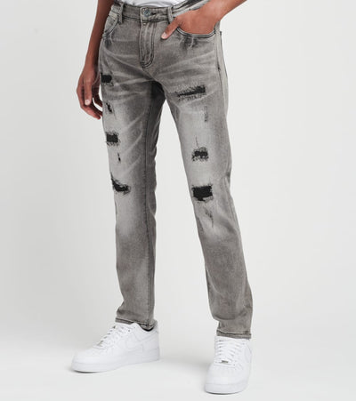 Crysp  Sebastian Distressed Jeans L32  Grey - CRYSP90RL32-GRY | Jimmy Jazz