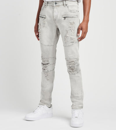 Crysp  Kanane Moto Jeans L32  Grey - CRYSP93RL32-LGR | Jimmy Jazz