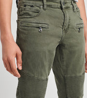 Crysp  Rogan Moto Jeans L33  Green - CRYSP95SL30-OLV | Jimmy Jazz