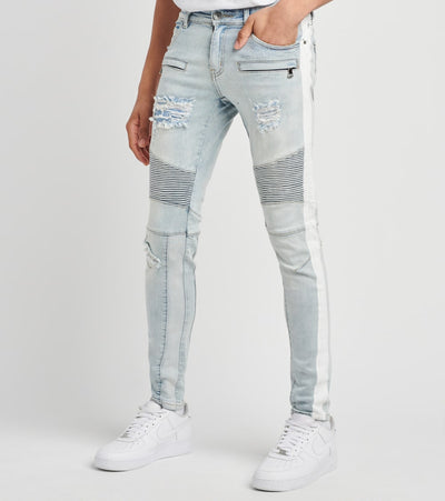 Crysp  Durican Biker Denim Jeans L28  Blue - CRYSPBUC48R-DNM | Jimmy Jazz