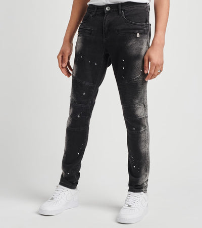 Crysp  London Biker  Jeans L31  Black - CRYSPBUC75L-BLK | Jimmy Jazz