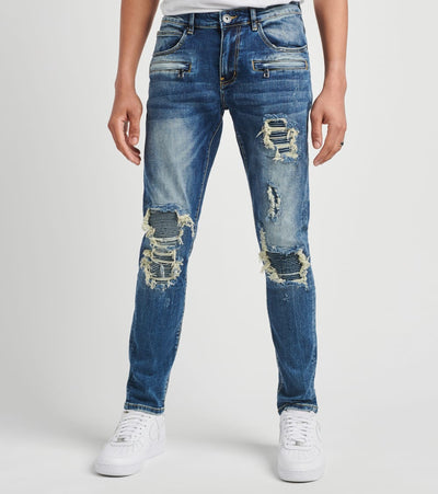Crysp  Biker Denim Jeans L32  Blue - CRYSPBUC84-DNM | Jimmy Jazz